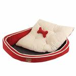 View Image 2 of Dazzle Dog Bed by Puppia - Wine