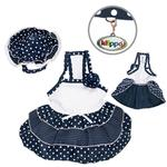 View Image 1 of Dazzling Dots Dog Sun Dress with Hat by Klippo