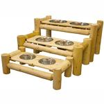 View Image 1 of Deluxe Cedar Log Pet Diner