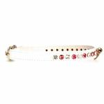 View Image 1 of Deluxe Crystal Dog Collar - White w/ Pink Crystal