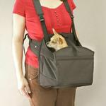 View Image 1 of Deluxe PetPocket Dog Carrier Sling - Solid Black