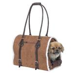 View Image 1 of Deluxe Sherpa Pet Carrier by Zack & Zoey - Chestnut Brown