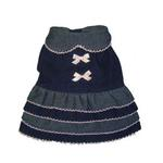 View Image 1 of Denim Frill Dog Dress