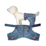 Denim Stars Dog Pants