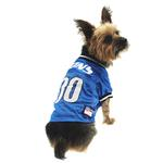 View Image 1 of Detroit Lions Officially Licensed Dog Jersey - Black and White Trim