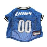 View Image 3 of Detroit Lions Officially Licensed Dog Jersey - Black and White Trim