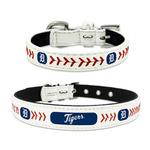 View Image 1 of Detroit Tigers Leather Dog Collar