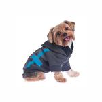 View Image 3 of Dexter Dog Hoodie - Gray & Blue