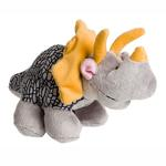 View Image 1 of Dino-Rageous Plush Dog Toy - Gray Dino