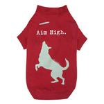 View Image 2 of Dog is Good Aim High Dog T-Shirt - Red