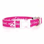 View Image 2 of Dog is Good Bolo Dog Collar - Raspberry Sorbet