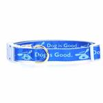 View Image 1 of Dog is Good Bolo Dog Collar - Sky Diver Blue
