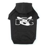 View Image 1 of Dog is Good Halo Dog Hoodie - Black