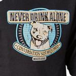 View Image 3 of Dog is Good Never Drink Alone T-Shirt - Pit Bull Porter