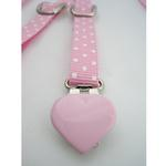 View Image 2 of Dog Suspenders - Pink Polka Dot
