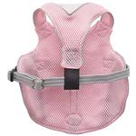View Image 3 of Doggles Reflective Mesh Vest Harness - Pink/Gray