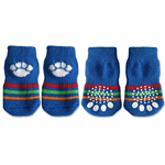 View Image 1 of Doggy Socks - Blue with White Paw Print