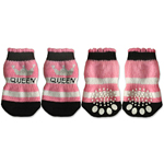 View Image 1 of Doggy Socks - Pink & Black Queen