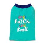 View Image 2 of Dogs Rock and Roll T-Shirt - Aqua