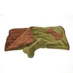 View Image 2 of Donut 3-Piece Dog Bed Set - Green/Brown