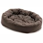 View Image 2 of Donut Dog Bed by Dog Gone Smart - Brown