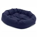 View Image 1 of Donut Dog Bed by Dog Gone Smart - Navy