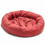 View Image 1 of Donut Dog Bed by Dog Gone Smart - Red