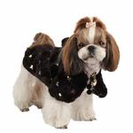 View Image 4 of Doris Hooded Dog Cape by Puppia - Black