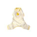 View Image 1 of Ducky Design Dog Pajamas - Yellow