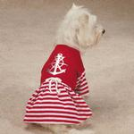 View Image 1 of All Paws on Deck Anchor Dog Dress - Red