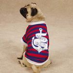 View Image 2 of All Paws on Deck Dog T-Shirt - Salty Dog