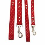View Image 2 of Canine Charmers Dog Leash - Red Stars