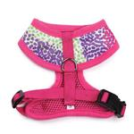 View Image 2 of East Side Collection Confetti Print Dog Harness - Raspberry