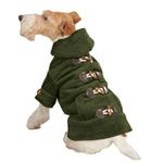 View Image 2 of East Side Collection Corduroy Toggle Dog Coat - Chive