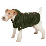 View Image 3 of East Side Collection Corduroy Toggle Dog Coat - Chive