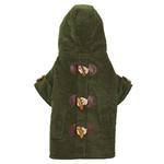 View Image 1 of East Side Collection Corduroy Toggle Dog Coat - Chive