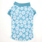 View Image 1 of Hibiscus Dog Polo - Blue