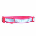 View Image 1 of East Side Collection Gingham Sweetie Dog Collar - Raspberry