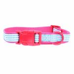 View Image 2 of East Side Collection Gingham Sweetie Dog Collar - Raspberry