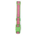 View Image 2 of East Side Collection Gingham Sweetie Dog Collar - Green
