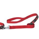 View Image 1 of East Side Collection Heart Charm Dog Leash - Red & Black