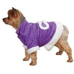 View Image 2 of East Side Collection Hooded Sherpa Dog Coat - Ultra Violet
