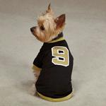 View Image 1 of Leader of the Pack Dog Football Jersey - Black and Gold