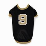View Image 2 of Leader of the Pack Dog Football Jersey - Black and Gold