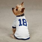 View Image 1 of Leader Of The Pack Dog Football Jersey - White