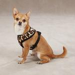 View Image 1 of East Side Collection Plush Animal Print Harness - Leopard