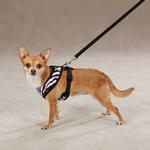 View Image 2 of East Side Collection Plush Animal Print Harness - Zebra