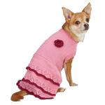 View Image 2 of East Side Collection Pointelle Knit Dog Dress - Pink