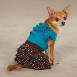 View Image 2 of East Side Collection Polka Dot Ruffle Dog Skirt