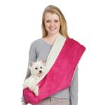View Image 1 of East Side Collection Reversible Sherpa Sling Carrier - Raspberry